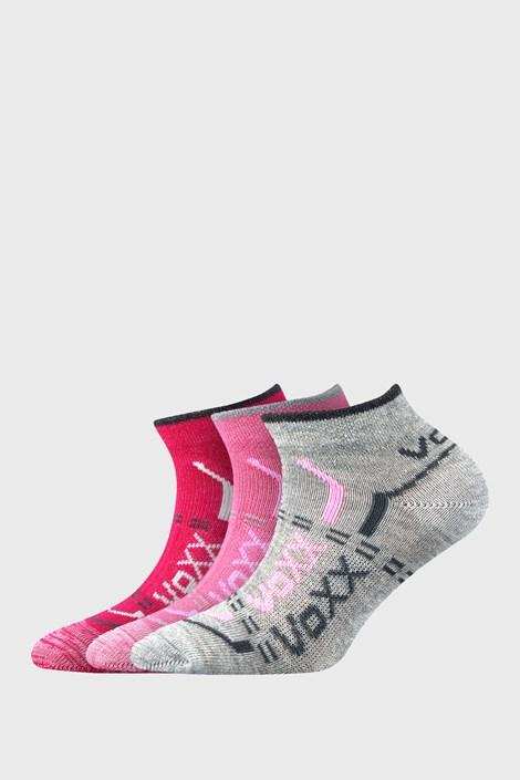 3 PACK dívčích nízkých ponožek VOXX