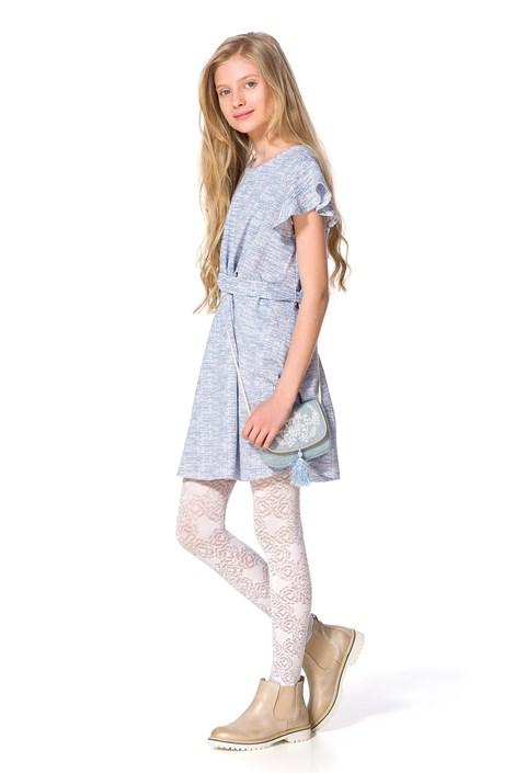 MONA Dívčí punčochové kalhoty Rose bílá 116/122