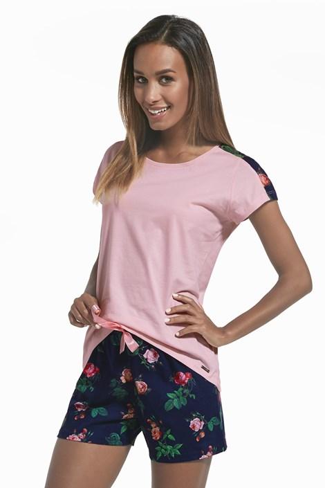 Cornette Dámské pyžamo Roses růžová XXL