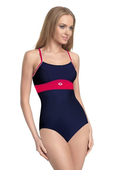 GWINNER Dámské jednodílné plavky Roxi modročervená 44