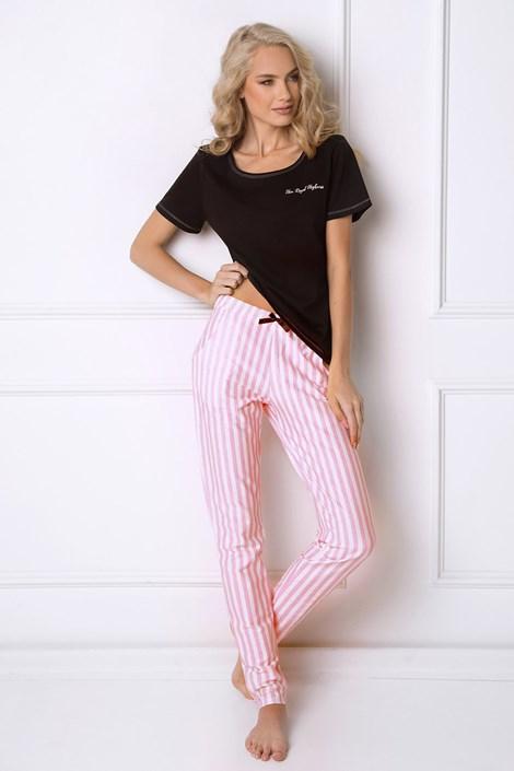 Aruelle Dámské pyžamo Royal černá/růžová S