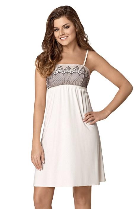 Babella Elegantní noční košilka Rozetta perlová XL