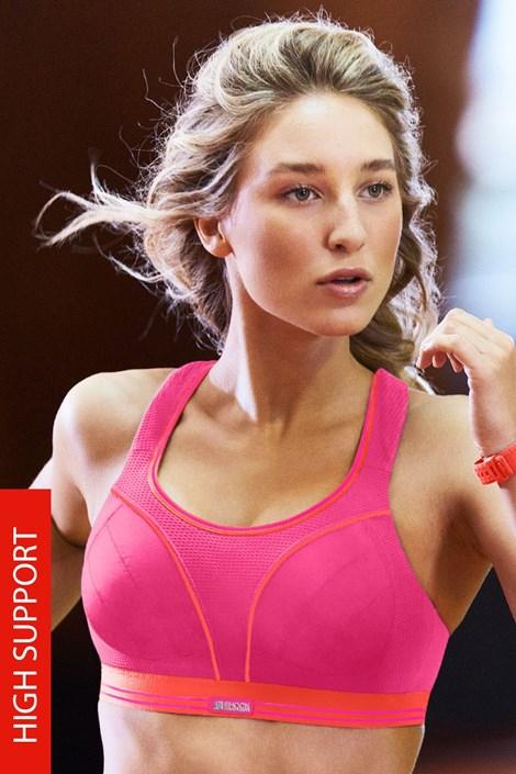 Shock absorber Sportovní podprsenka Shock Absorber Ultimate Run S5044 Pink bez kostic růžová 65/A