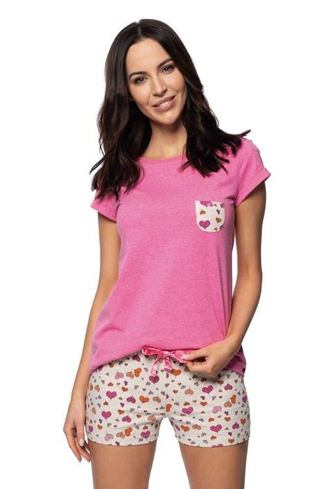 Rössli Dámské pyžamo Thousand Hearts růžová XL