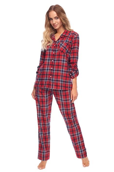 Rössli Dámské flanelové pyžamo Alena červená XL