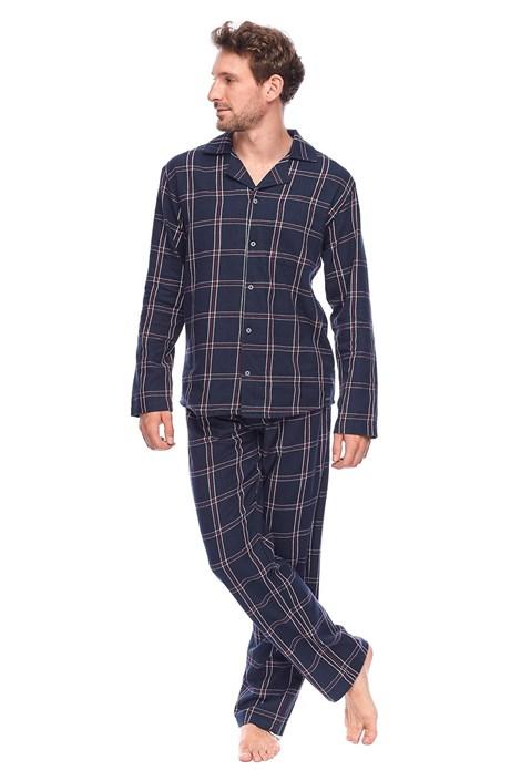 Rössli Pánské kabátkové pyžamo David tmavěmodrá XXL