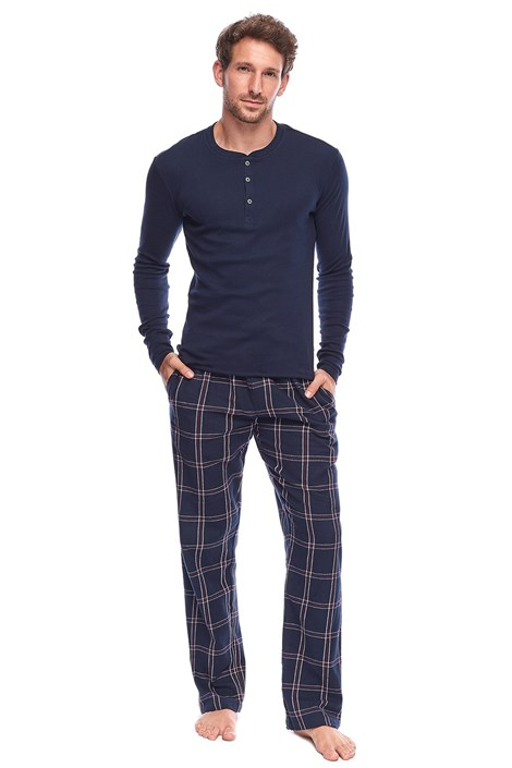 Rössli Pánské pyžamo James tmavěmodrá XXL
