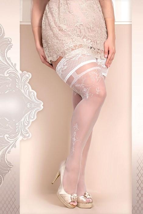 Ballerina Luxusní samodržící punčochy Soft size 361 bílá XXL