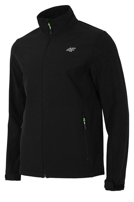 4F Pánská softshellová bunda Black černá XXL