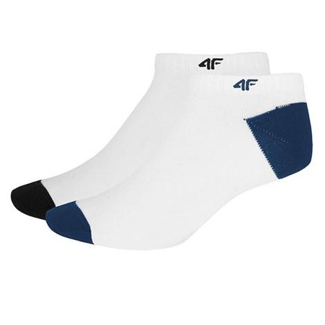 4F Pánské bambusové ponožky 2pack bílá 39-42