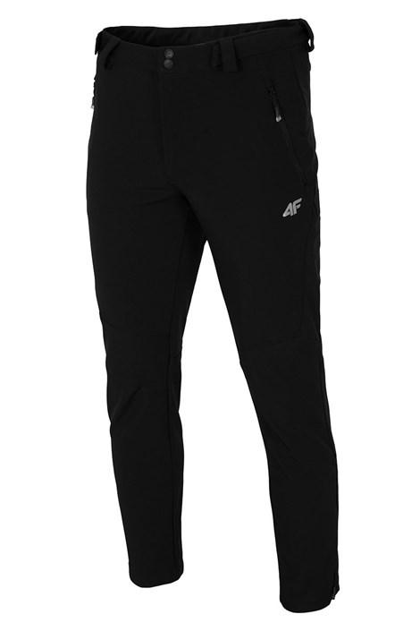 4F Pánské softshellové kalhoty Black černá XXL
