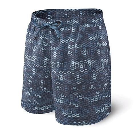 Saxx Pánské koupací šortky SAXX Blue Waterfall modrá XL