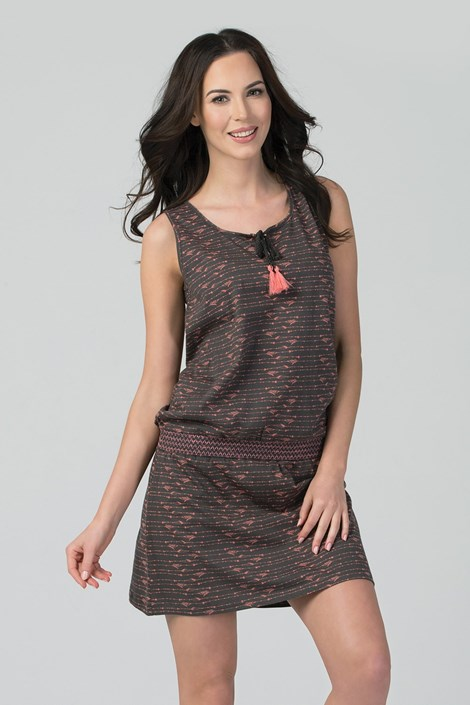 Rössli Domácí šaty Spirit hnědá XL