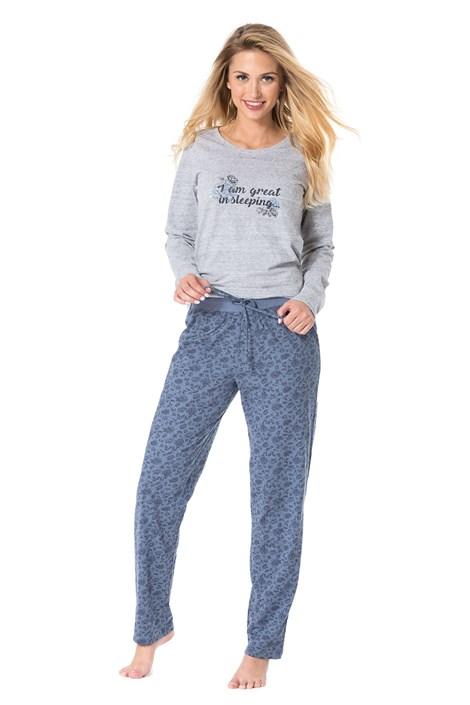 Rössli Dámské pyžamo Sleeping šedomodrá XL