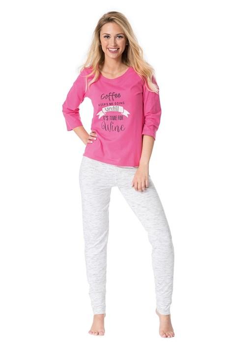 Rössli Dámské pyžamo Good times růžovobílá XL