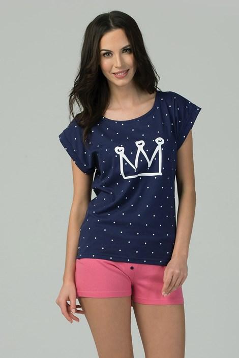 Rössli Dámské pyžamo Queen modrorůžová XL