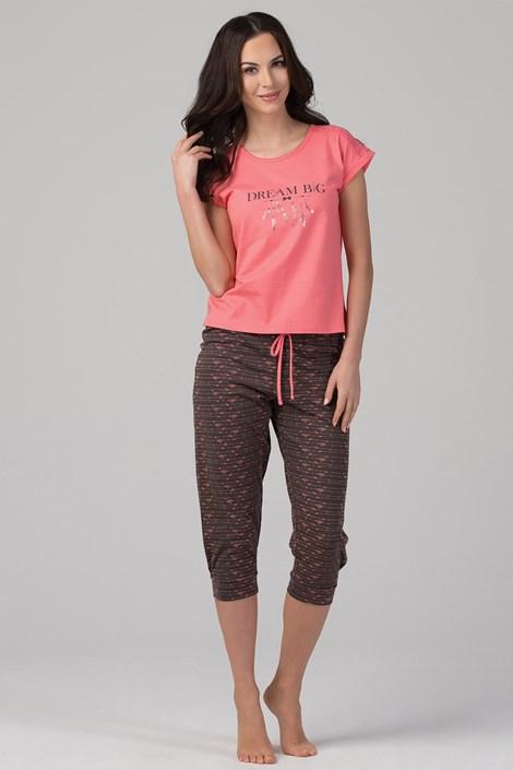 Rössli Dámské pyžamo Dream růžovohnědá XL