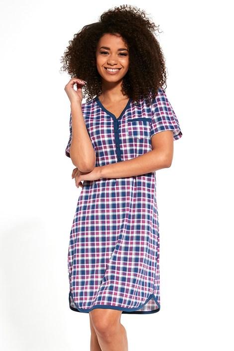 Cornette Mateřská kojicí košilka Sally modrá XXL