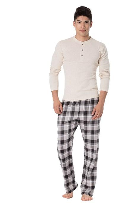 Rössli Pánské pyžamo Andrej béžovočerná XXL