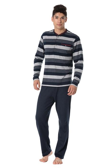 Rössli Pánské pyžamo Stripes grafitová M