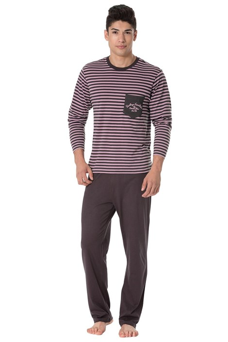 Rössli Pánské pyžamo Louis hnědofialová M