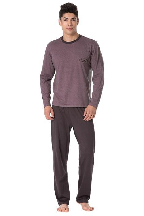 Rössli Pánské pyžamo Joseph hnědofialová M
