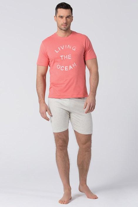 Rössli Pánské pyžamo RÖSSLI Living The Ocean šedorůžová XXL