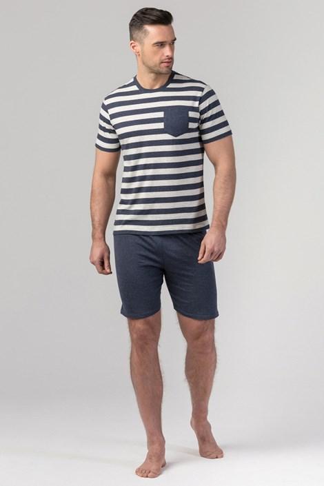 Rössli Pánské pyžamo RÖSSLI Navy Stripes modrá XXL