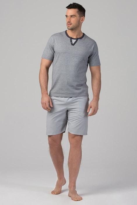 Rössli Pánské pyžamo RÖSSLI Stripes Grey šedá XXL