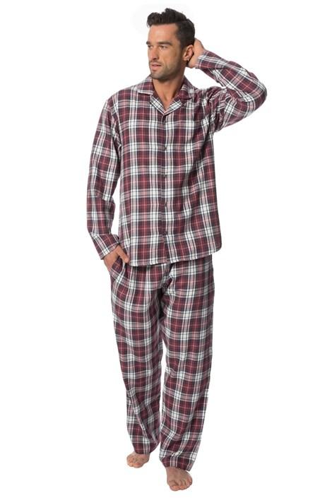 Rössli Pánské pyžamo ROSSLI Aubin bordó XXL