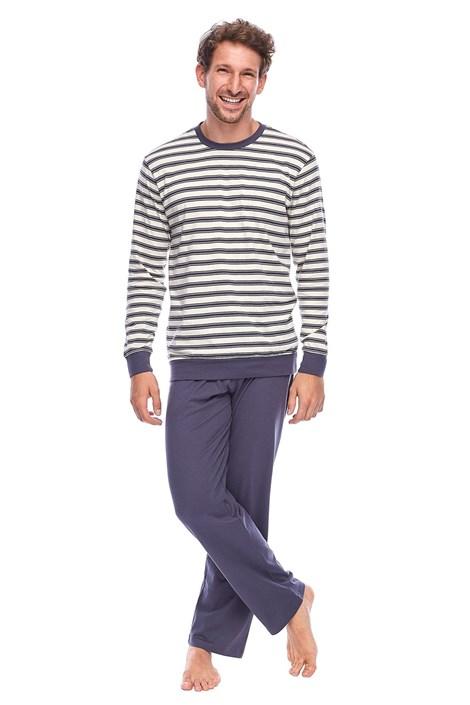 Rössli Pánské pyžamo ROSSLI Aurelian šedobéžová XL