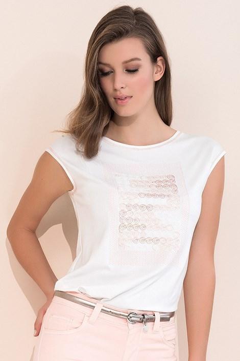 Dámské elegantní triko s krátkým rukávem