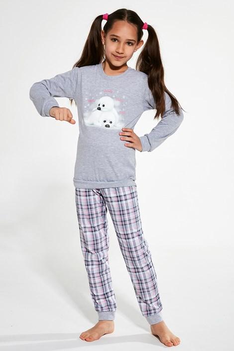 Cornette Dívčí pyžamo Seals šedá 98/104