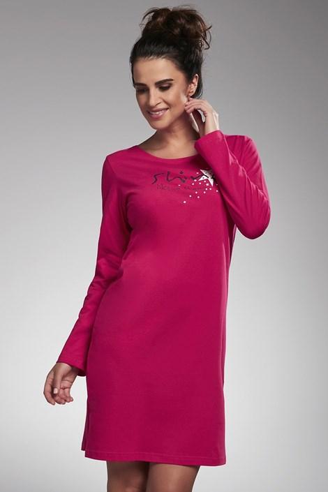 Cornette Dámská noční košile Shine růžová M