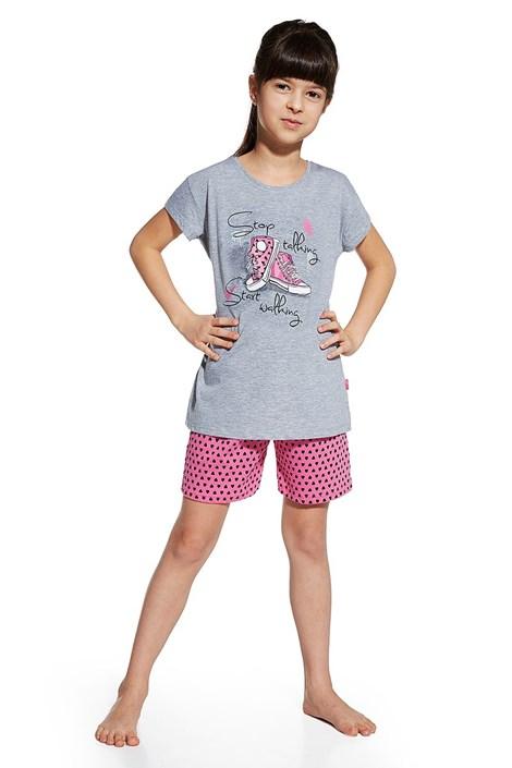Cornette Dívčí pyžamo Shoes šedorůžová 146/152