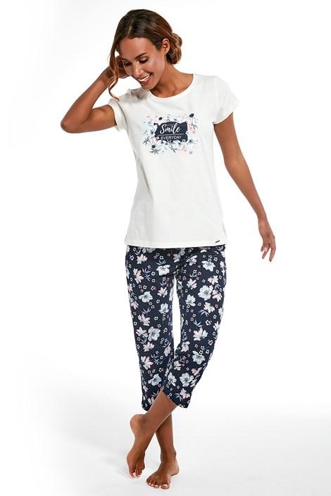 Cornette Dámský trojdílný komplet pyžama Smile ecru M