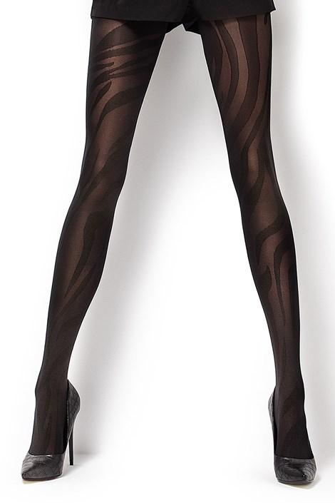MONA Vzorované punčochové kalhoty Sofia 50 DEN černá S
