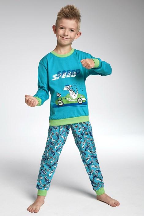 Cornette Chlapecké pyžamo Cornette Speed tyrkysová 98/104