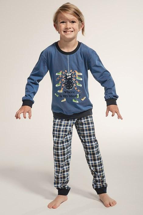 Cornette Chlapecké pyžamo Spider modrá 98/104