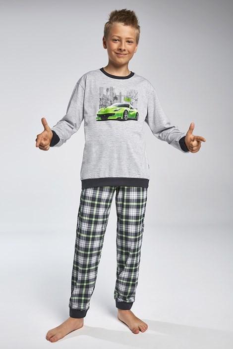 Cornette Chlapecké pyžamo Cornette Street šedozelená 158/164