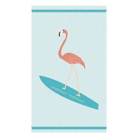 Mora Mora Plážová osuška Surf Flamingo barevna 100x170