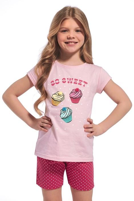 Cornette Dívčí pyžamo So sweet růžová 110/116