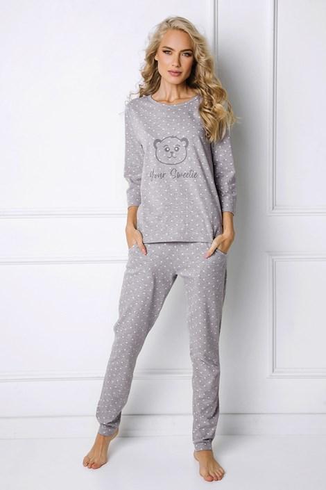 Aruelle Dámské pyžamo Sweet Bear šedá L