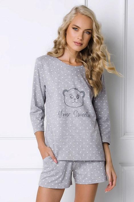 Aruelle Dámské pyžamo Sweet Bear krátké šedá M