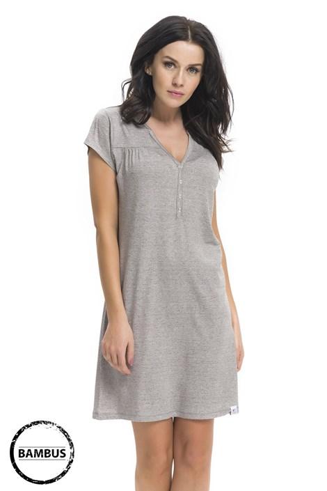 Dobra nocka Mateřská, kojicí košilka Joy Grey bambusová šedá XL