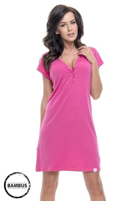 Dobra nocka Mateřská, kojicí košilka Joy Pink bambusová růžová L