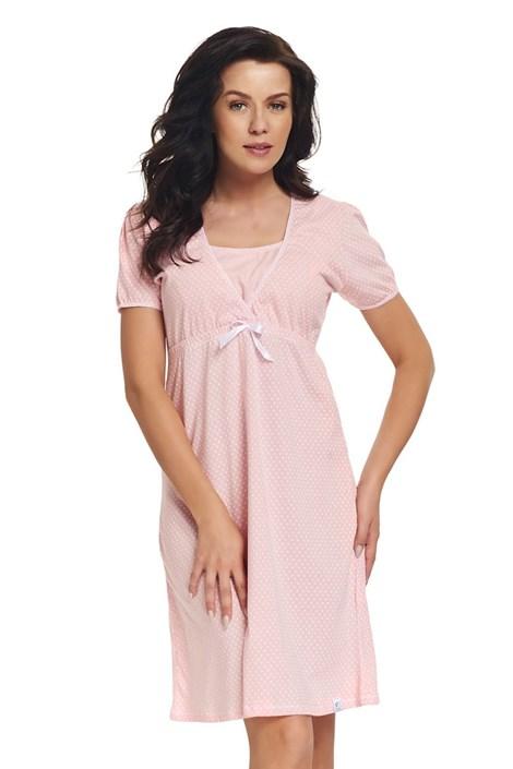 Dobra nocka Mateřská kojicí košilka Laura růžová S