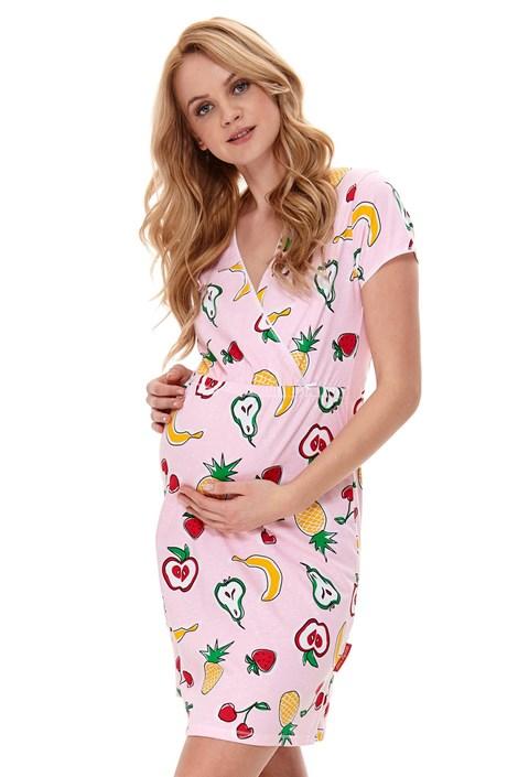 Dobra nocka Mateřská kojicí košilka Fruits vícebarevná S