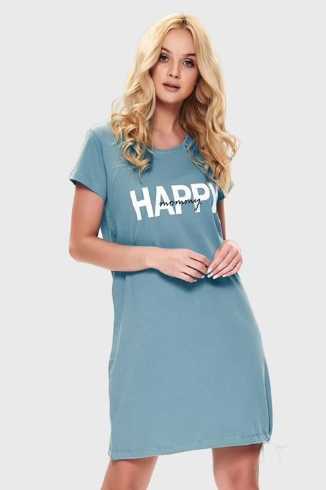Doctor Nap Mateřská kojicí košilka Happy mommy modrá XL