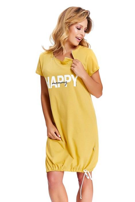Doctor Nap Mateřská kojicí košilka Monica žlutá XL